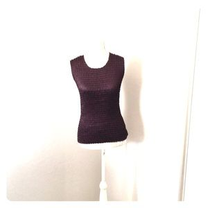 Brown 100% polyester tank top